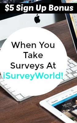 Learn How You Can Earn A $5 Signup Bonus Taking Surveys At iSurveyWorld! But is it really legitimate?