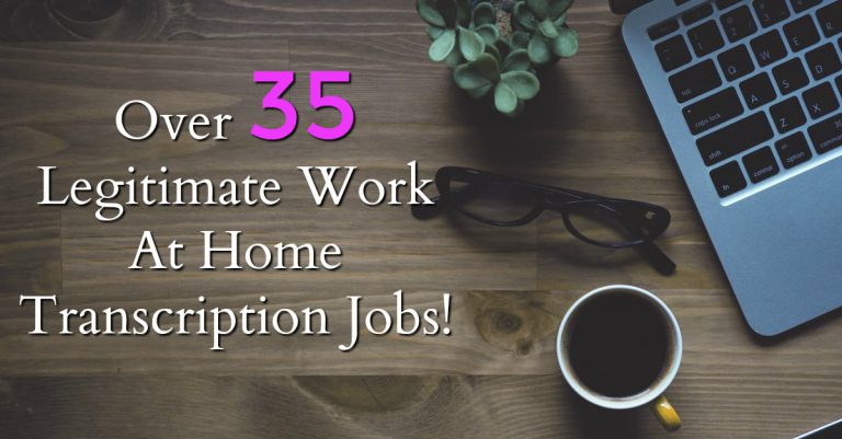 Are you looking to work at home? Did you know you could be getting paid to transcribe at home? Here're 35 Legitimate Transcription Jobs!