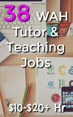 Are you looking to work at home in the education field? Here's a list of 38 sites that hire wah tutors and teachers. Most pay $10-$20 an hour!