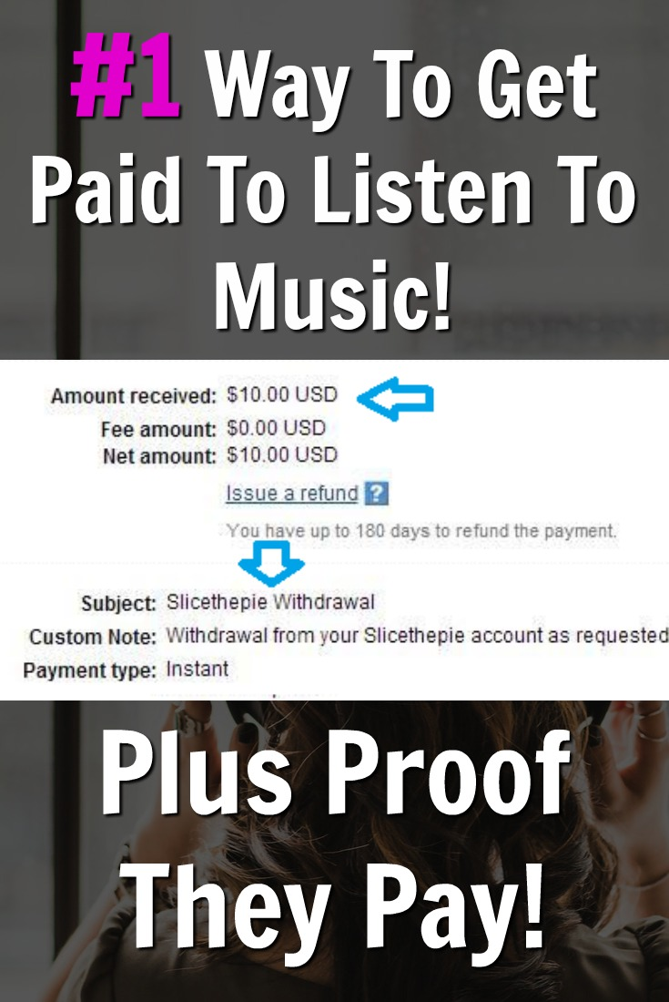 Did you know you could get paid to listen and rate music? At SliceThePie you can and I'll even prove to you they pay!