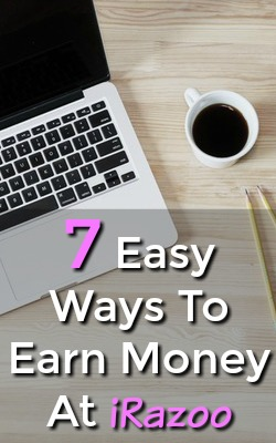 Are you looking to make money online? Check out iRazoo an easy to use reward site that offers 7 ways to earn!
