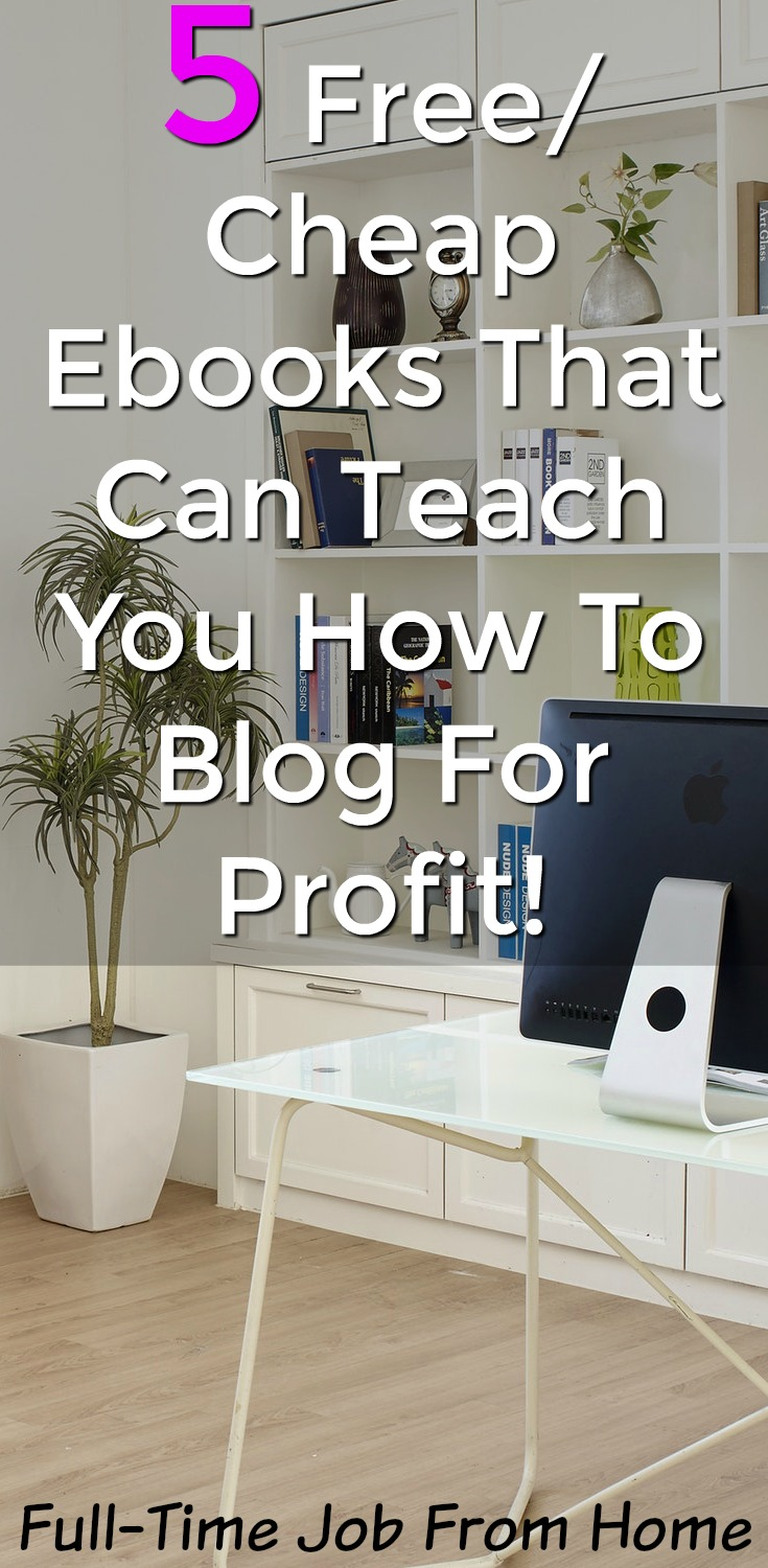 Are you looking to learn how to start a blog and make money? There're several awesome courses that will teach you but some of them are expensive! Here're 5 cheap or free ebooks you can use to learn how to make money blogging!