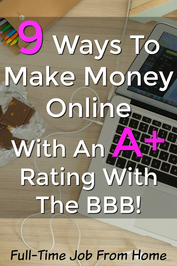 Are you looking to make money online? There're tons of online scams that you need to avoid. Check out this list of 9 legitimate sites that have a high rating with the Better Business Bureau! I'll even show you proof they pay!