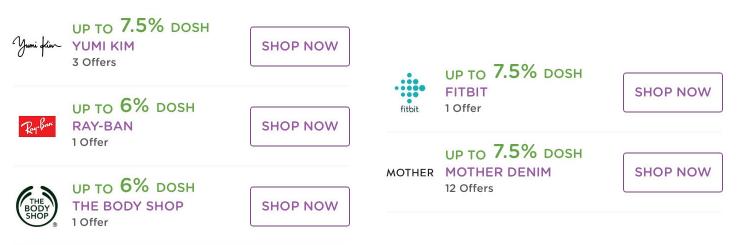 dosh app online shopping cash back