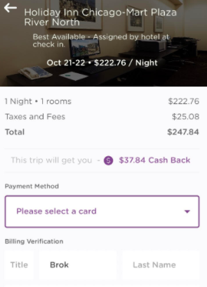 book hotel room to earn with dosh app