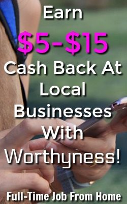 Did you know you could be earning cash back at local businesses that the other apps won't pay you for? With Worhtyness you'll earn up to $15 cash back per purchase at local stores near you!