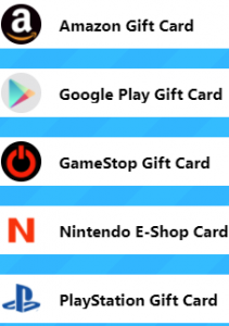 giftswall reward options