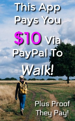 Learn How You Can Earn $10 PayPal Payments just by downloading this app and walking. I'll even show you proof that they pay!