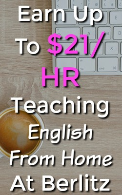 Learn How You Can Work From Home Tutoring English and Other Languages and Earn Up To $21 An Hour at Berlitz!