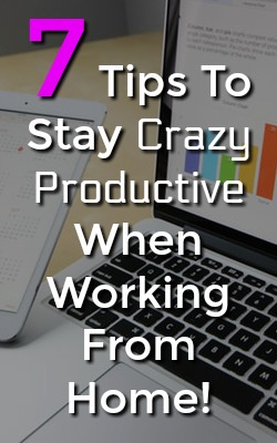 If you're part of the work from home work force you've probably struggled making the transition from the normal office job. Make sure to check out these 7 tips on how to stay crazy productive while working from home!