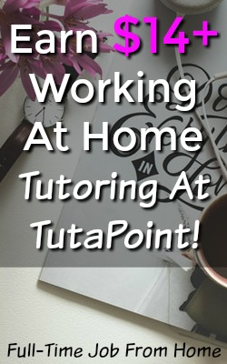 Learn How You Can Work At Home Tutoring In Your Spare Time and Make $14 or More an Hour With TutaPoint!