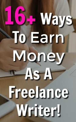 Are you looking to make money online? Have you thought about freelance writing? Here're over 16 ways you can make money from home as a freelance writer!
