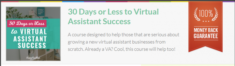 30 days or less to virtual assistant success review