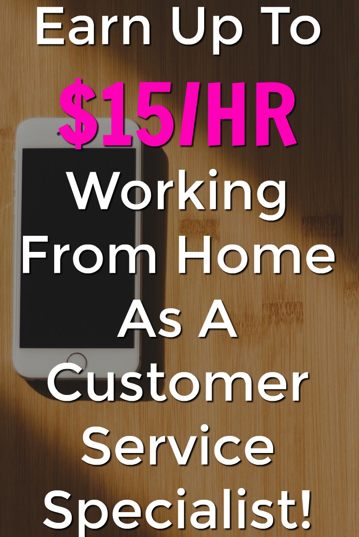 Learn How You Can Work From Home Earning $15/HR as a customer service phone specialist!