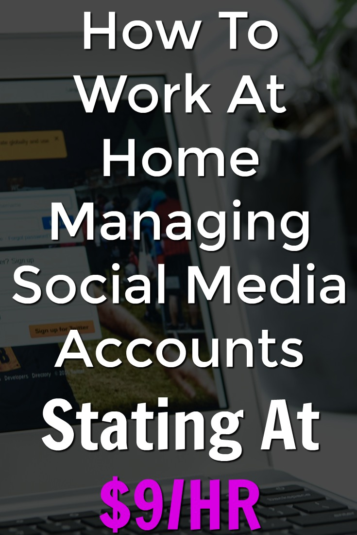 Did you know you could work at home managing companies social media accounts? Learn How To Get Started Now!