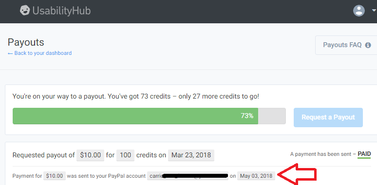 usabilityhub payment proof