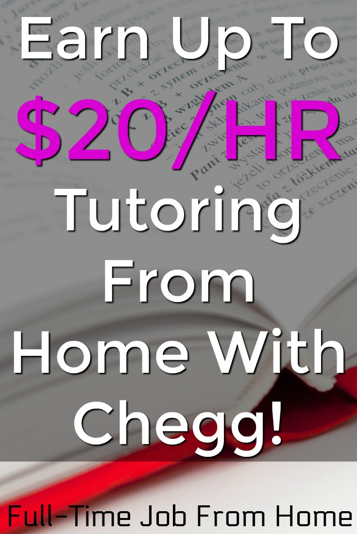Did you know you could work at home as a tutor on your own time and make extra cash? With Chegg you can tutor any subject you're knowledgeable about from home and earn up to $20/HR!