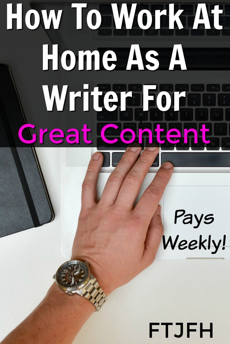 Learn How You Can Work From Home As A Freelance Writer and Get Paid Weekly when you work at Great Content!