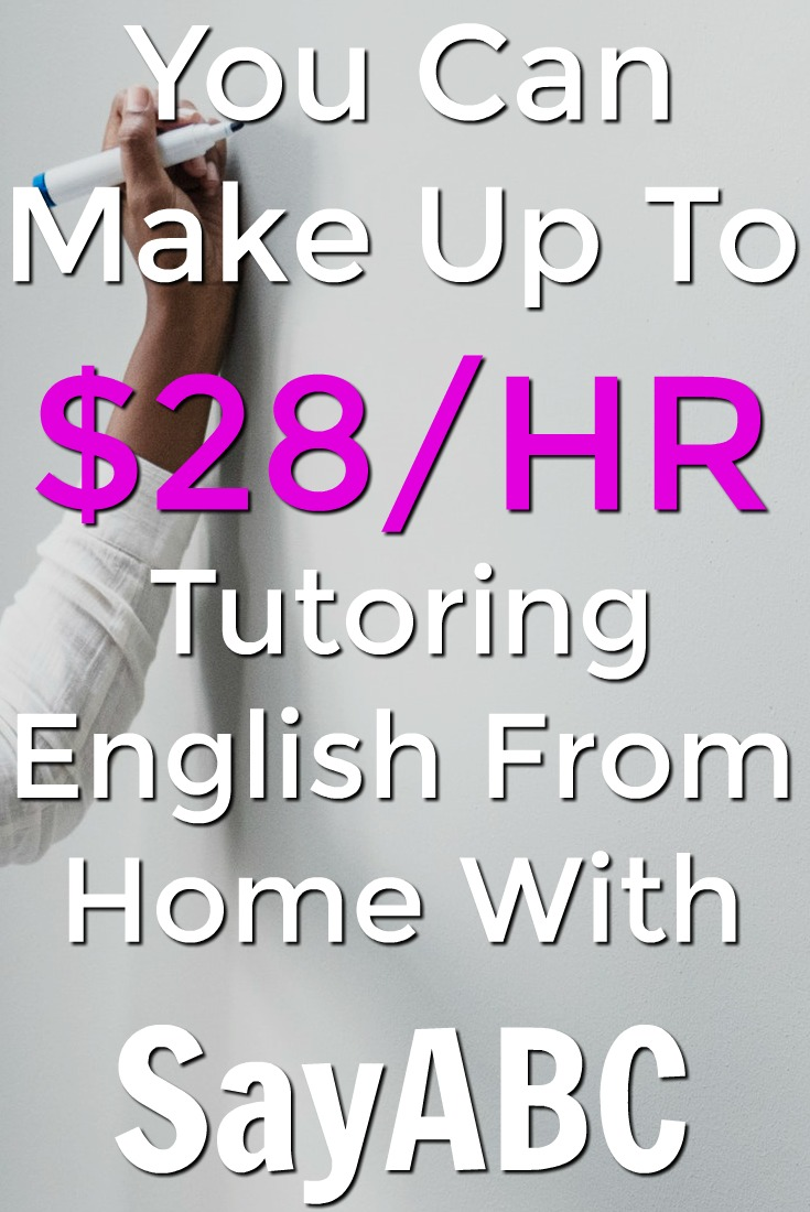 Learn how you can earn up to $28 an hour from home tutoring English at SayABC!