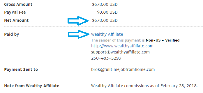 wealthy affiliate payment proof feb