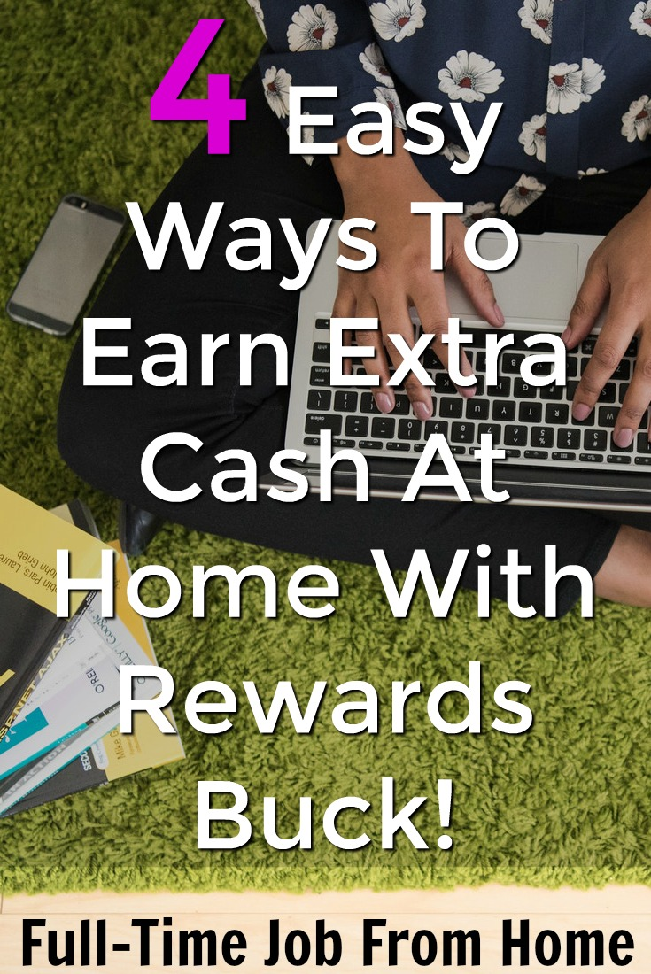 Are you looking to make extra cash at home? Check out these 4 easy ways to earn extra cash at a new rewards site called Rewards Buck!