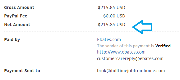 ebates may payment proof