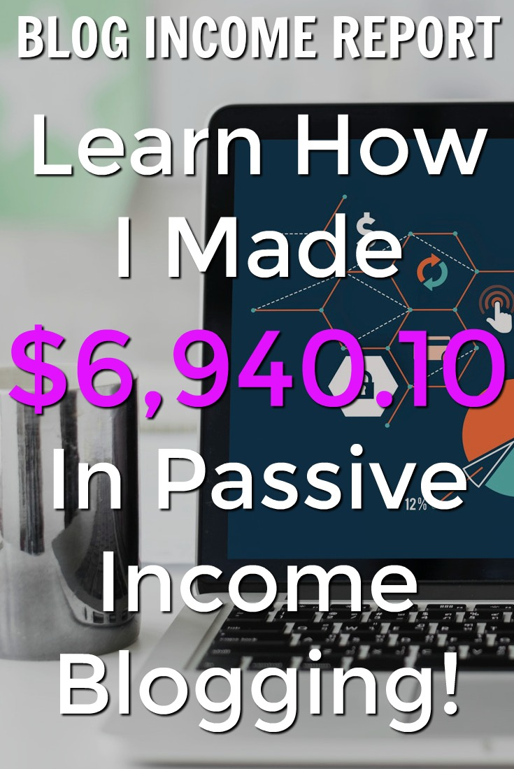 In July I made over $6,900 of passive income with my small blog! Learn exactly where that income came from and how you can get started making passive income with a blog too!