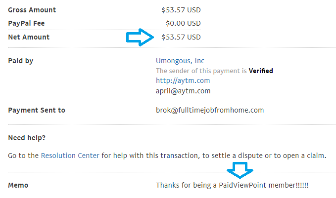 paidviewpoint may payment proof