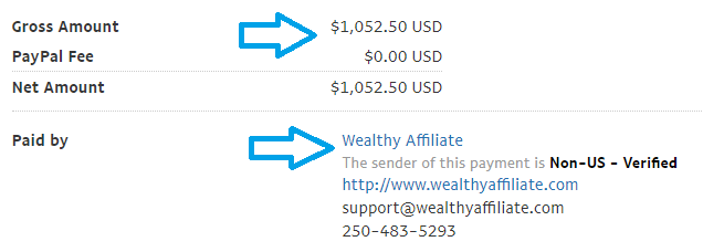 wealthy affiliate june payment