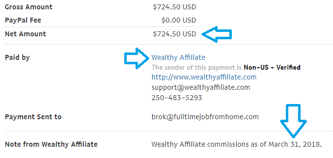 wealthy affiliate march payment proof