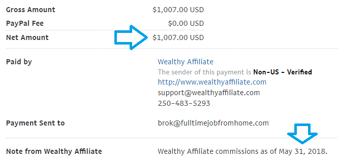 wealthy affiliate review does it pay payment proof