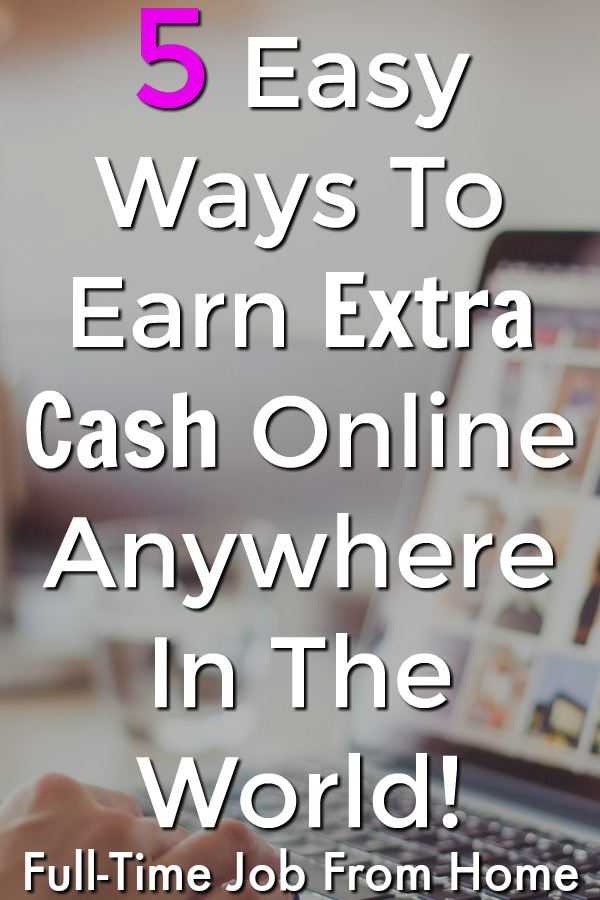 Are You Looking To Make Money Online? Let Me Show You 5 Easy Ways You Can Make Extra Cash Online Anywhere In The World!