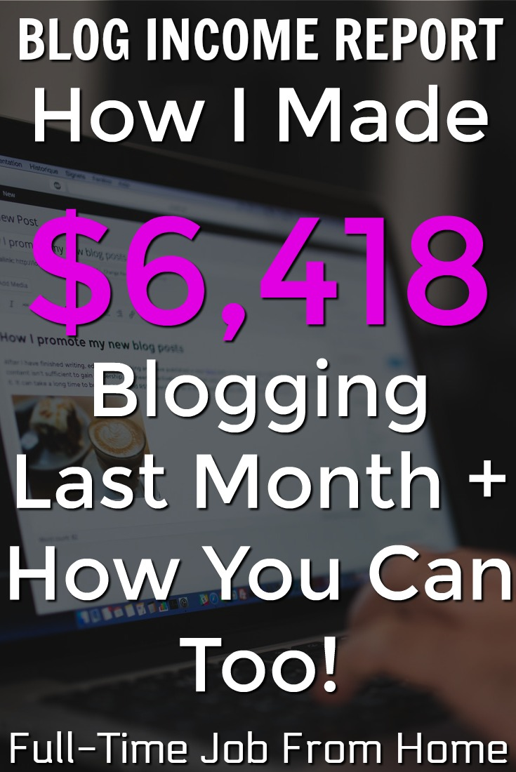 Learn How I Made Over $6,000 In August Blogging! I'll show you exactly where my income came from and how you can make money blogging too!