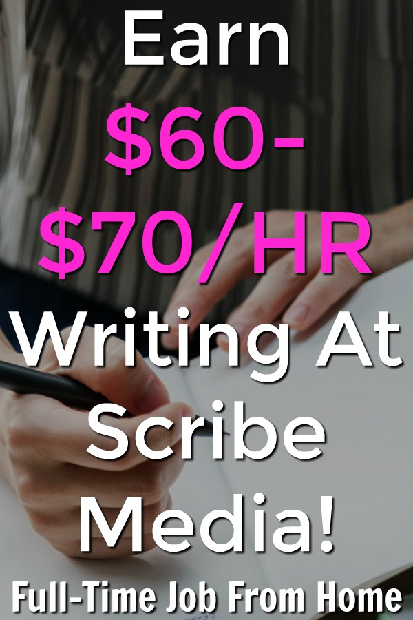 Are you looking for a freelance writing job? Learn how you can make $60-$70 an hour writing from home with Scribe Media!