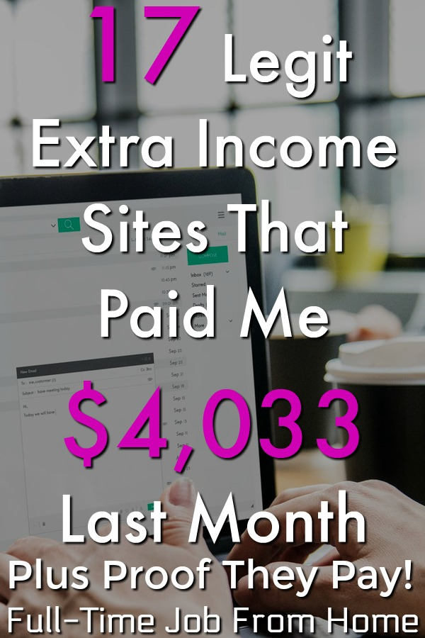 Are you looking to make money online? In September I was paid over $4,000 by extra income sites! Make sure to check out my report to see the 17 legitimate sites and see proof that they actually pay!