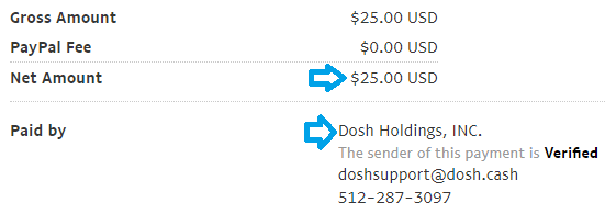 dosh app payment proof september