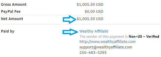wealthy affiliate payment proof september