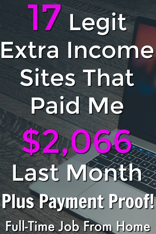 Are you looking for ways to make extra cash online? Awesome make sure to check out these 17 sites that paid me over $2,066 last month! I'll even show you proof they pay!