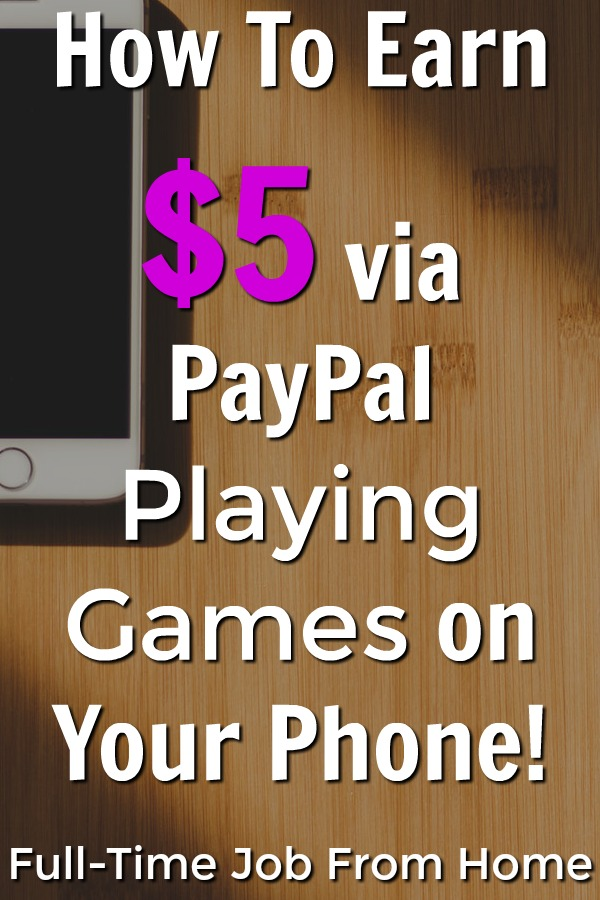 Learn How You Can Make $5 Payments Via PayPal by Playing Games on your phone with the Money App!