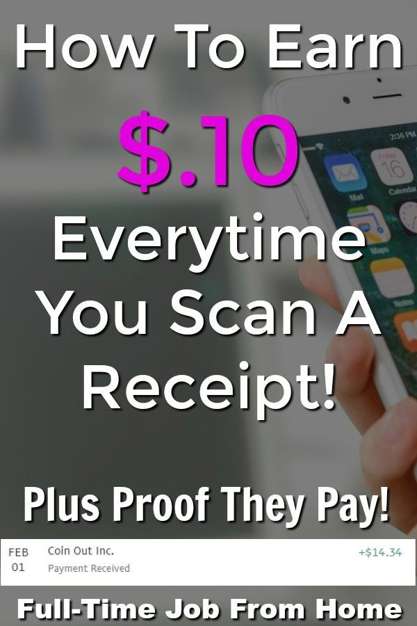 Learn How You Can Earn Money For Scanning Your Receipts. You'll earn $.04-$.10 for every receipt you scan and can get paid via Amazon gift card or PayPal with no minimum cash out amount!