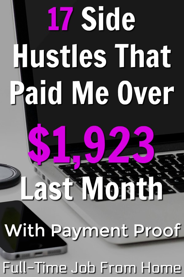 If you're looking to make extra money online, you're in the right place. I've put together a list of 17 sites that paid me over $1,923 in January!